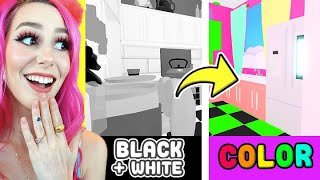Building My TINY HOME In BLACK AND WHITE! | Roblox Adopt Me Build Challenge