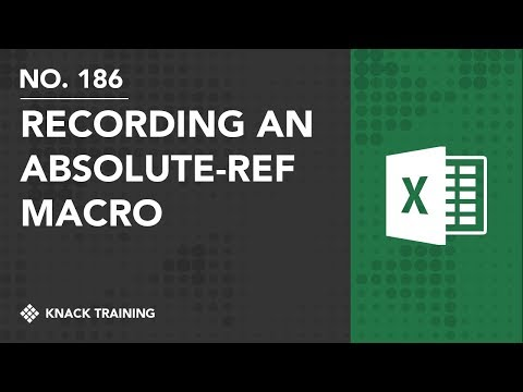 Recording Macros with Absolute References in Microsoft Excel | Everyday Office 076