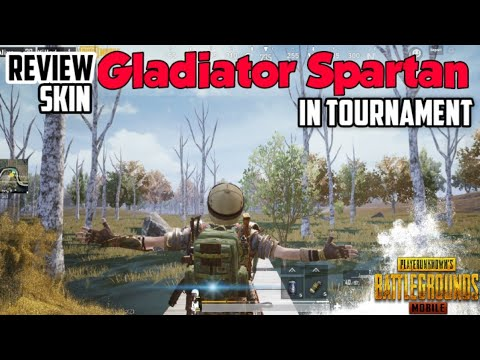 Review Skin GLadiator Spartan in Tournament PMCOY   Pubg Mobile