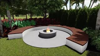 Contemporary Landscaping - Concept Design/ 3D Fly through - Noosaville