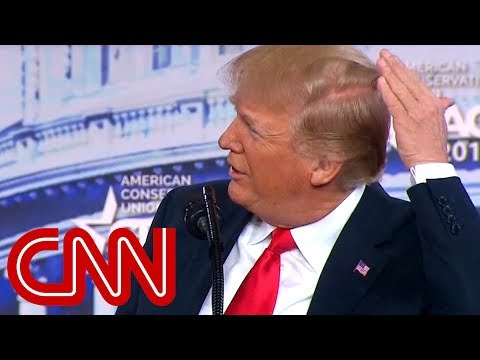 President Trump: I try like hell to hide that bald spot