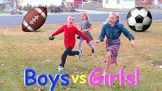 🏈GIRLS PLAYING FOOTBALL WITH BOYS!👦🏽👸