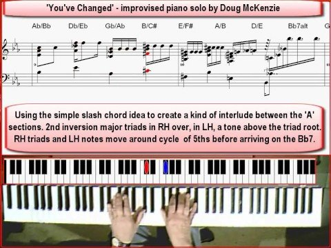 You've Changed' Jazz piano lesson (advanced) - YouTube