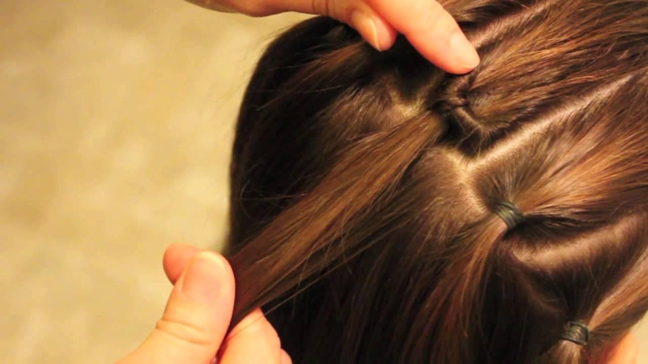 トップシィテールを使ってヘアアレンジ 2 Hair style with TopsyTail Part 2 , YouTube