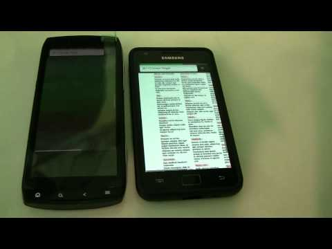 Acer Iconia Smart Benchmarks - Comparison with Samsung Galaxy S2