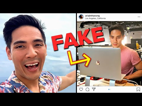 I Faked Being At Work On Instagram For A Week