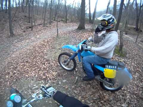 "Vintage Enduro ride in Fieldon, Illinois with my Nephew ""Fellow vintage bike Enthusiast"""