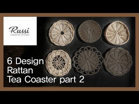 라탄 티코스터 6가지 디자인[라탄공예] 취미 수업 온라인클래스 18/Rattan Craft : Rattan Tea Coaster Design.2/ラタンクラフト,DIY