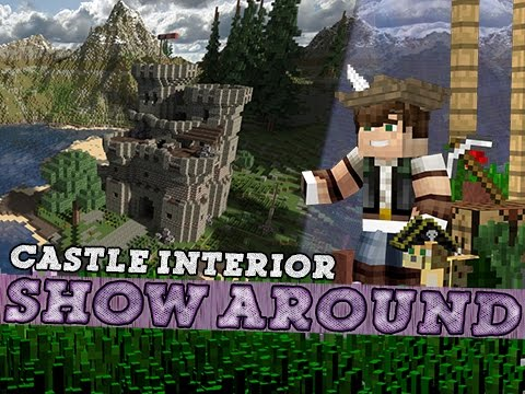 Minecraft Show Around Medieval Castle Interior