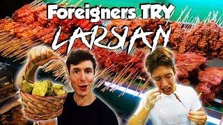 Foreigners Try Filipino Street Food (LARSIAN) in Cebu! - Philippines Travel Vlog