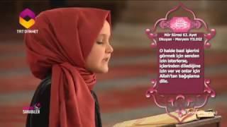 Küçük Meryemden Muhteşem Kuran Tilaveti