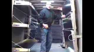 Fold Away Shelving For The Sprinter Van
