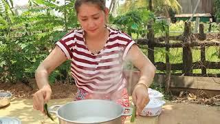 Yummy Kapok Sap Dessert   Kapork Sap Cooking   Cooking With Sros
