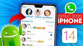 ¡NUEVO! WhatsApp Estilo iPhone en Android | iOS 14 + EMOTICONOS en Teléfonos Android (2020)