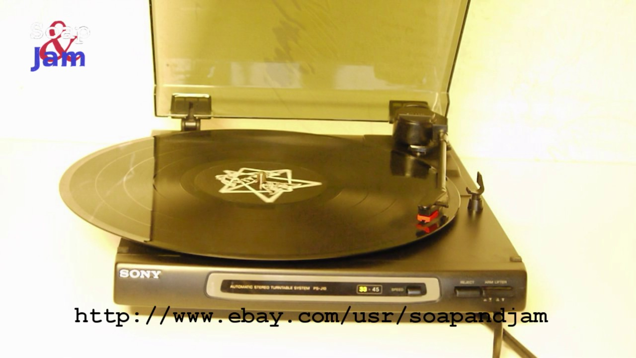turntable record player sony ps j10  [ 1280 x 720 Pixel ]