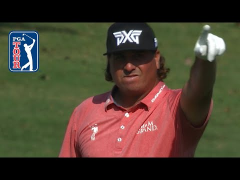 Pat Perez's approach bounds into the cup for eagle at the TOUR Championship
