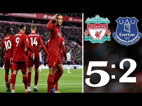 Liverpool vs Everton 5-2 Goals and Highlights