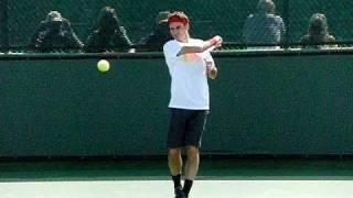 Roger Federer Forehand Spin Variation in Slow Motion