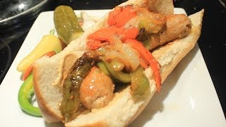 Spicy Cajun Andouille Sausage & Peppers Sandwich