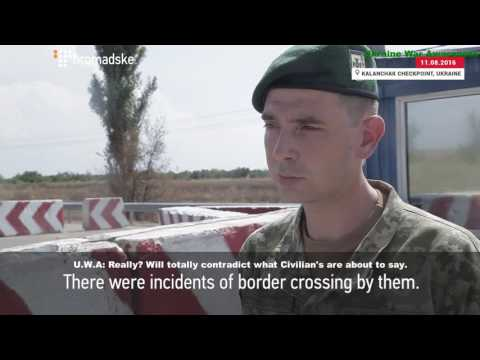 Ukrainian Media interviews Border Patrol & Residents