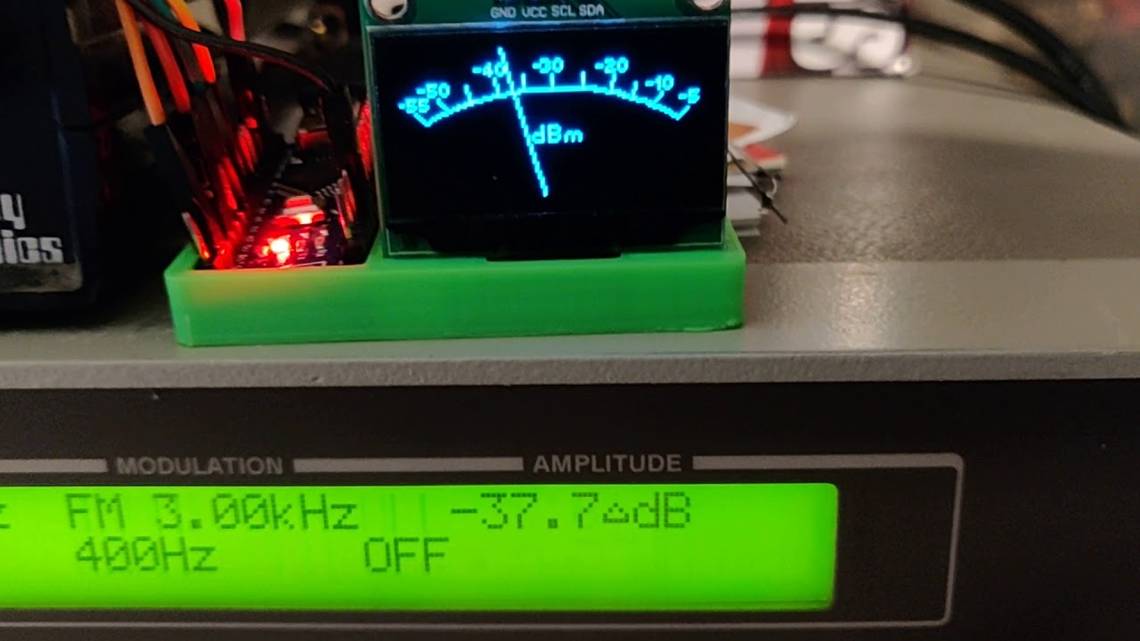 Arduino Nano AD8302 OLED RF Power or Field Strength Meter