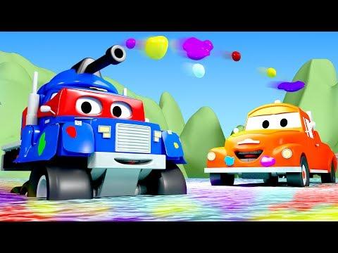Carl el Super Camión es un TANQUE en Auto City | Dibujos animados para niños