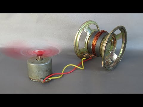 How to make free energy generator magnets with fan - Easy Experiments at home