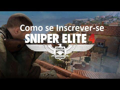 Como se Inscrever-se no BETA do Sniper Elite 4 - RÁPIDO E FÁCIL (PT-BR)