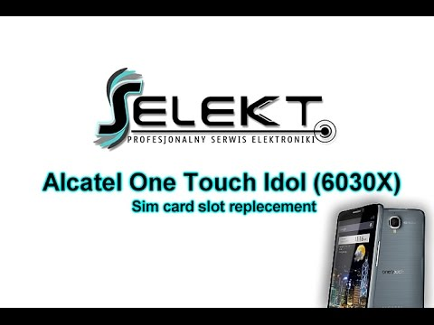 Alcatel One Touch Idol 6030x Sim Card Slot Reader Replacement | Selekt