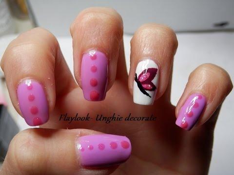 Video tutorial 79 Nail art farfalla, By Flaylook
