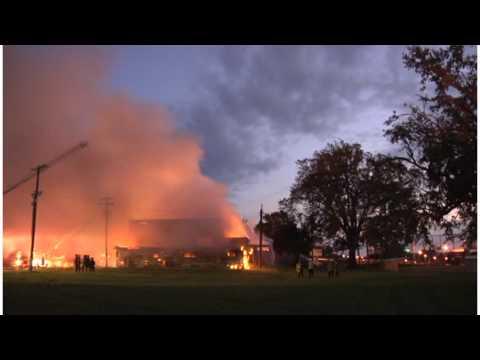Timelapse of the Shreveport Regional Arts Council Arson Fire SRAC