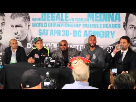 JAMES DeGALE FULL POST FIGHT PRESS CONFERENCE @ WASHINGTON DC ARMOURY W/ MEDINA & BADOU JACK