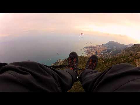 Paragliding Monaco February 2018