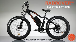 radrover electric fat bike features and operation rad power bikes ebike
