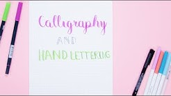 How To Hand-Letter Your Bullet Journal | Plan With Me