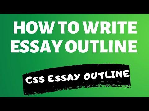 How To Write Essay Outline | CSS Essay Writing | Essay Writing CSS Part 4 Writing Thesis Statement