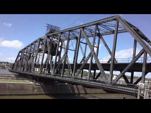 The arsenal bridge in Rock Island Illinois