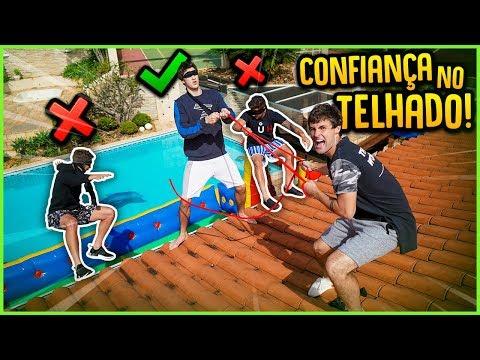 TESTE DE CONFIANÇA NO TELHADO DA CASA!! ( QUEM PERDER CAI!! ) [ REZENDE EVIL ]