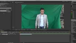Green Screen в After Effects (наложение фона)