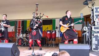 red hot chilli pipers playing wake me up by avicii