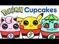Art CHALLENGE How to Draw Color Pokemon as CUPCAKES Pikachu Bulbasaur Jigglypuff