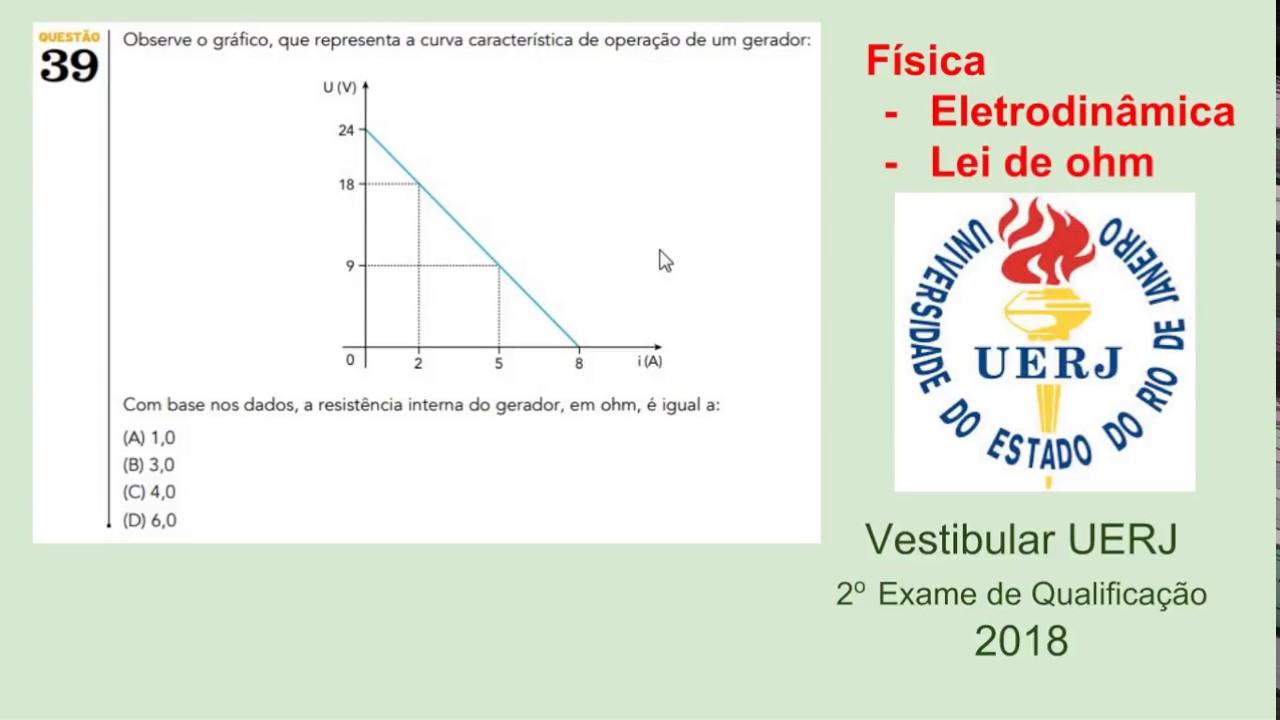 5e7ee6ba6e Física - Vestibular UERJ 2018 - 2 Exame de Qualificação - Questão 39 ...