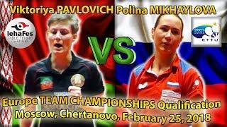 6 cameras Viktoriya PAVLOVICH - Polina MIKHAYLOVA ETTU Table Tennis