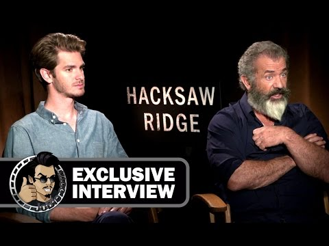 Mel Gibson and Andrew Garfield Exclusive Interview - HACKSAW RIDGE (JoBlo.com)