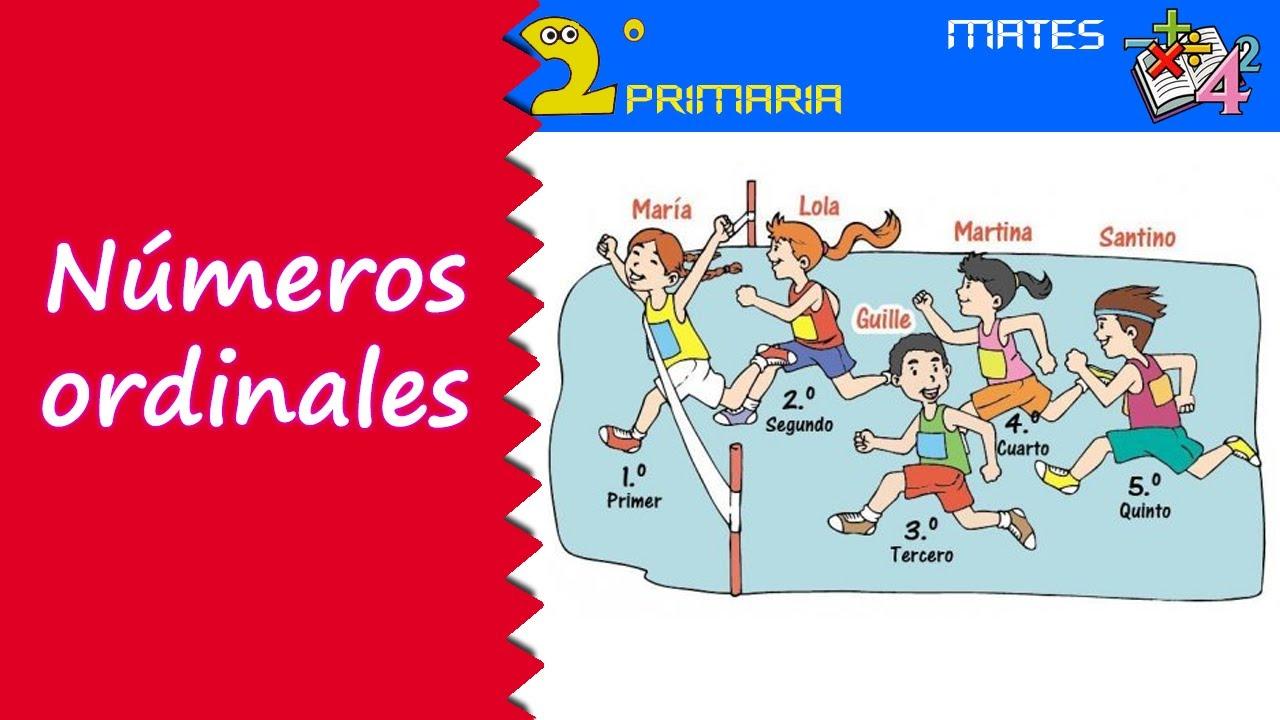 Resultado de imagen de ORDINALES ONLINE MUNDO PRIMARIA