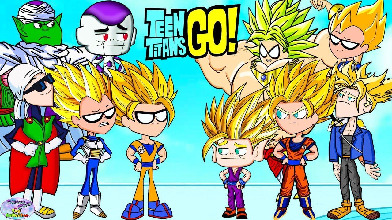Download Teen Titans Go! Color Swap into Dragonball Z Goku Super Saiyan Surprise Egg and Toy Collector SETC