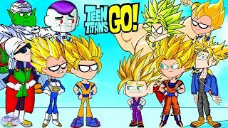 Teen Titans Go! Color Swap into Dragonball Z Goku Super Saiyan Surprise Egg and Toy Collector SETC