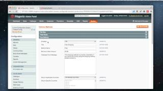 Magento - How to set up free shipping