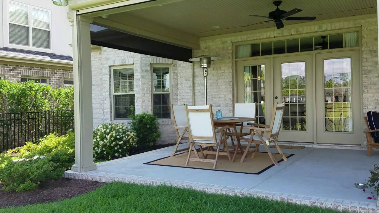 Motorized porch and patio shades - YouTube