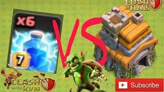 LIGHTNING SPELLS vs TOWN HALL 7 | SHOCKING REASULT | Clash of Clans